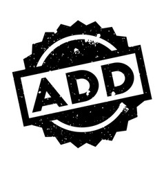 add rubber stamp vector image vector image