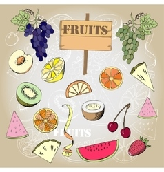 Background with fruit1-03 vector image vector image