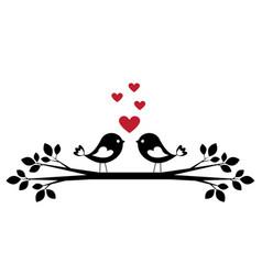 cute birds in love vector image vector image
