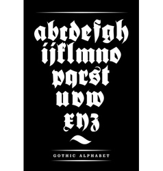 gothic font alphabet with decorations vector image