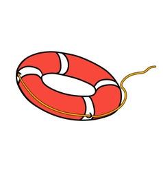 lifebuoy vector image vector image