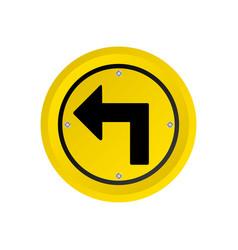 metallic realistic yellow circular frame turn left vector image vector image