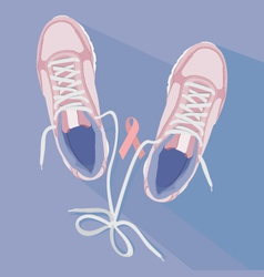 Running for the cure sneakers vector image vector image