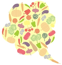 vegetables balloons vector image vector image