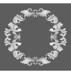 Vintage baroque frame border with leaf scroll vector image vector image