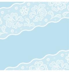 Vintage lace background ornamental flowers vector image vector image