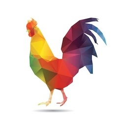 Abstract cock isolated vector image