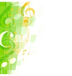 abstract green musical mosaic vector image vector image