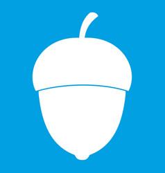 acorn icon white vector image