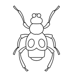 Beetle insect icon outline style vector