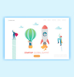 Business start up innovation concept landing page vector