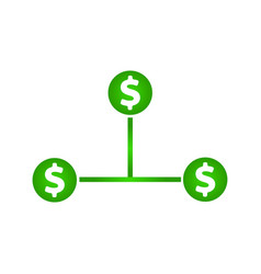 Cash flow icon dollar icon vector