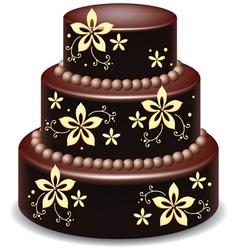 Chocolate cake vector