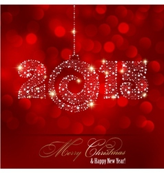 Christmas red light background vector