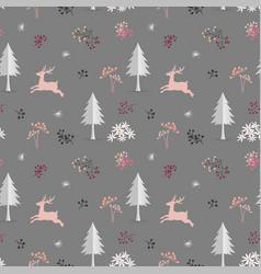 Christmas seamless pattern on pastel mood vector