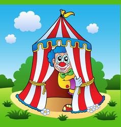 clown theme picture 6 vector image