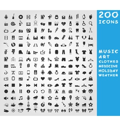 Collection of icons vector