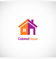 colored house design company logo vector image