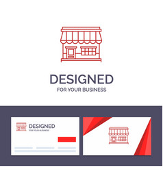 creative business card and logo template shop vector image