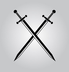 crossed swords vector image