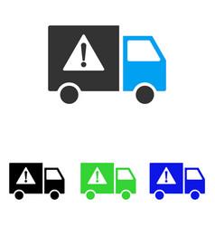 danger transport truck flat icon vector image