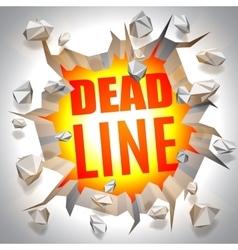 Deadline Event Concept vector image