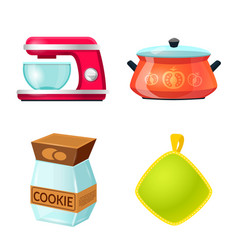 design of kitchen and cook logo set of vector image