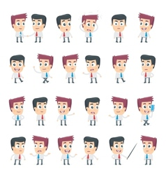 dialog poses of two business characters vector image