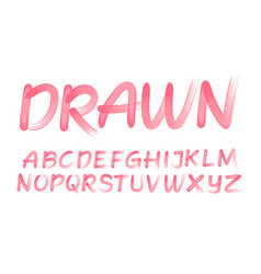 drawn spontaneous alphabet vector image