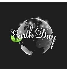 Earth Day background with the words world globe vector