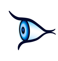 Eye side view vector