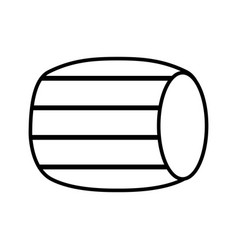 figure wool barrel traditional container icon vector image