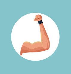 Fitness arm strong image vector