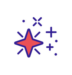 Four pointed star radiance icon outline vector