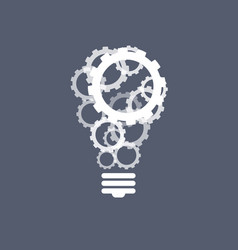 gears light bulb inspiration concept vector image