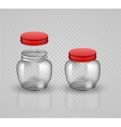 Glass Jars for canning and preserving With cover vector