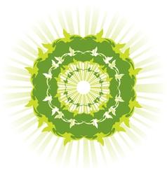 Green sun vector