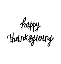 Hand drawn thanksgiving lettering typography vector
