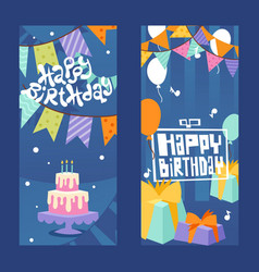 Happy birthday typographic banner vector