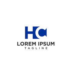 hc negative space logo vector image