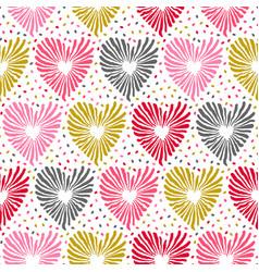 heart seamless pattern love valentine day romantic vector image