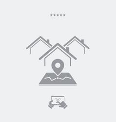 house address - web icon vector image