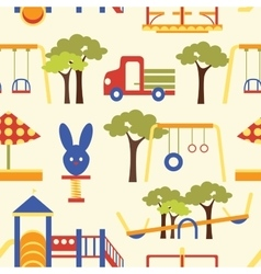 Icons set of playground equipments pattern vector image