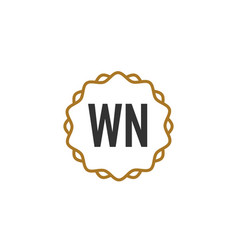 Initial letter wn elegance creative logo vector