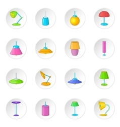 Lamp icons set vector