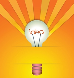 Light bulb idea background vector image