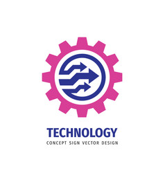 machine - business logo template concept vector image