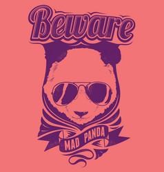 Mad panda vector