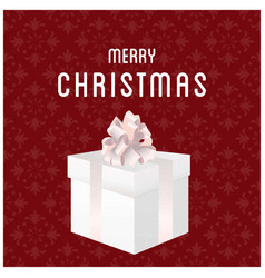 merry christmas with snow flakes and giftboxes vector image