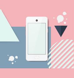 Modern infographics cell phones vector